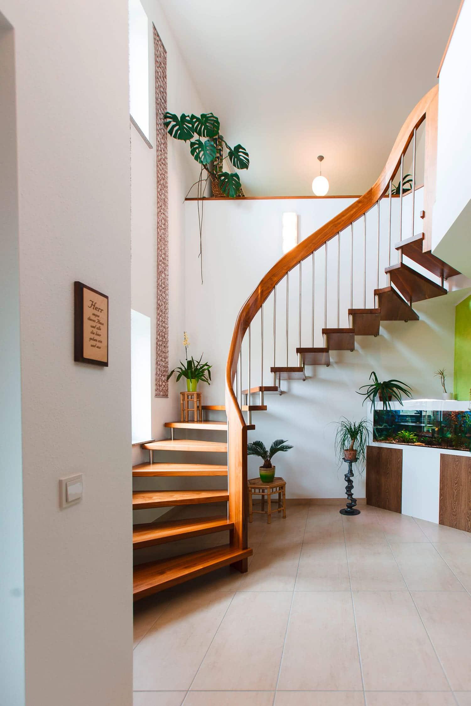 Treppe mit Krümmer