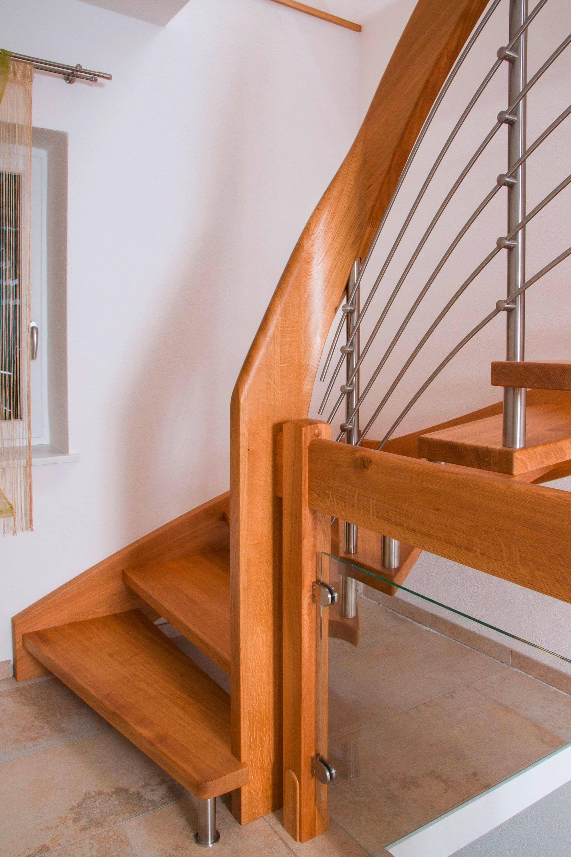 Treppe mit Wange