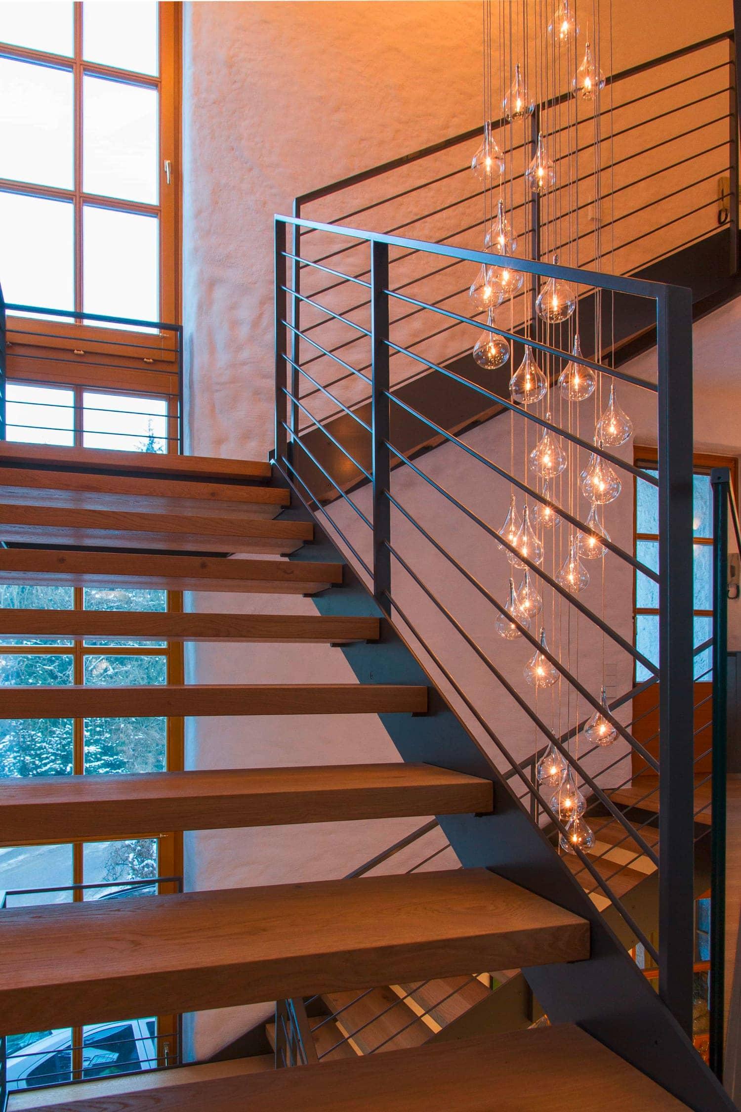 Eisengeländer für Treppe