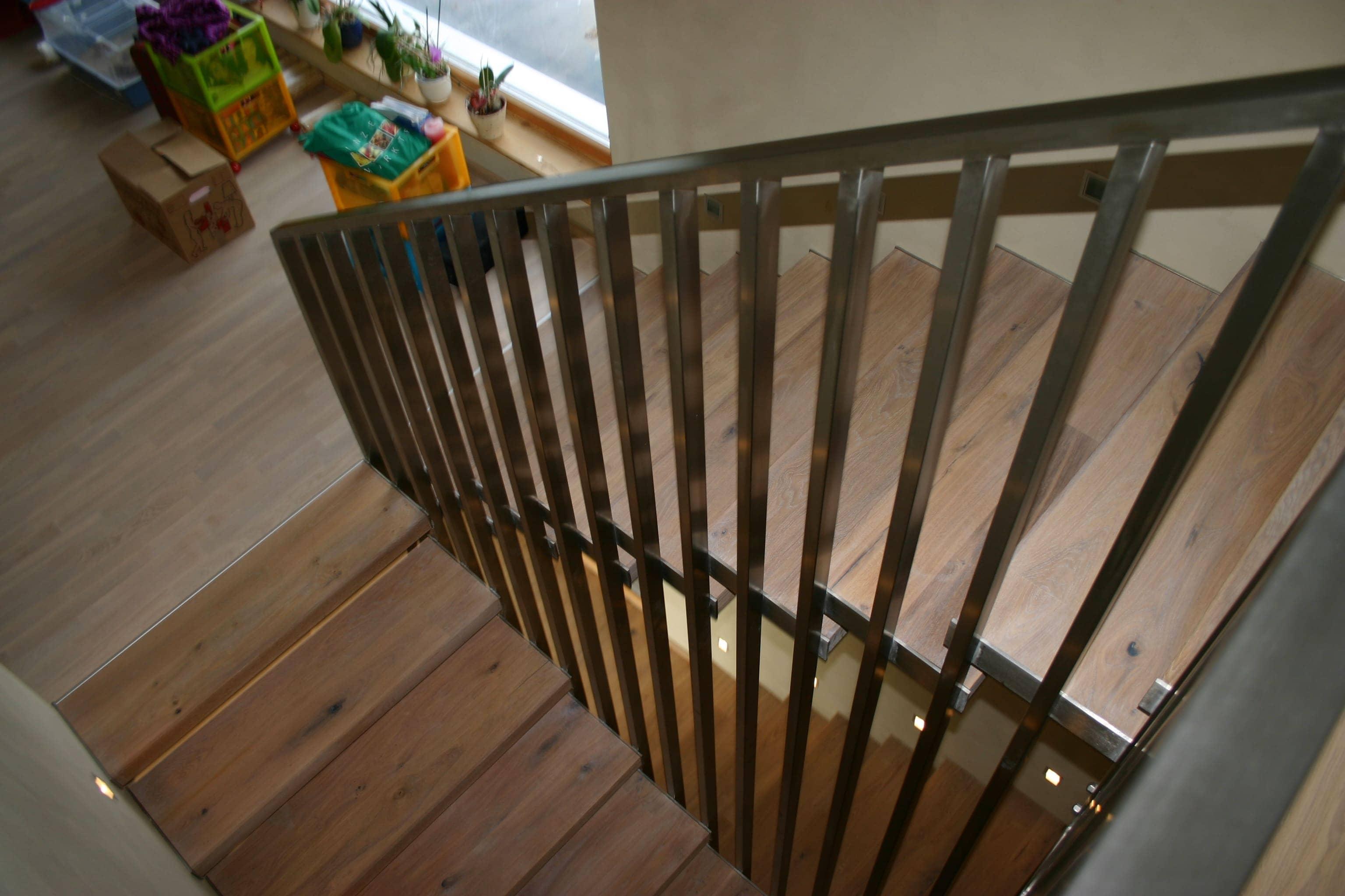 Geländer aus Flachstahl